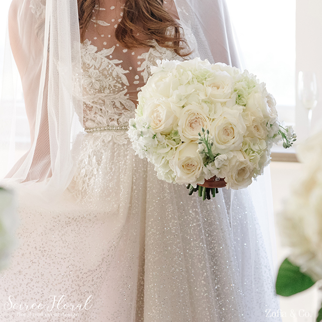 Classic All White Bouquet