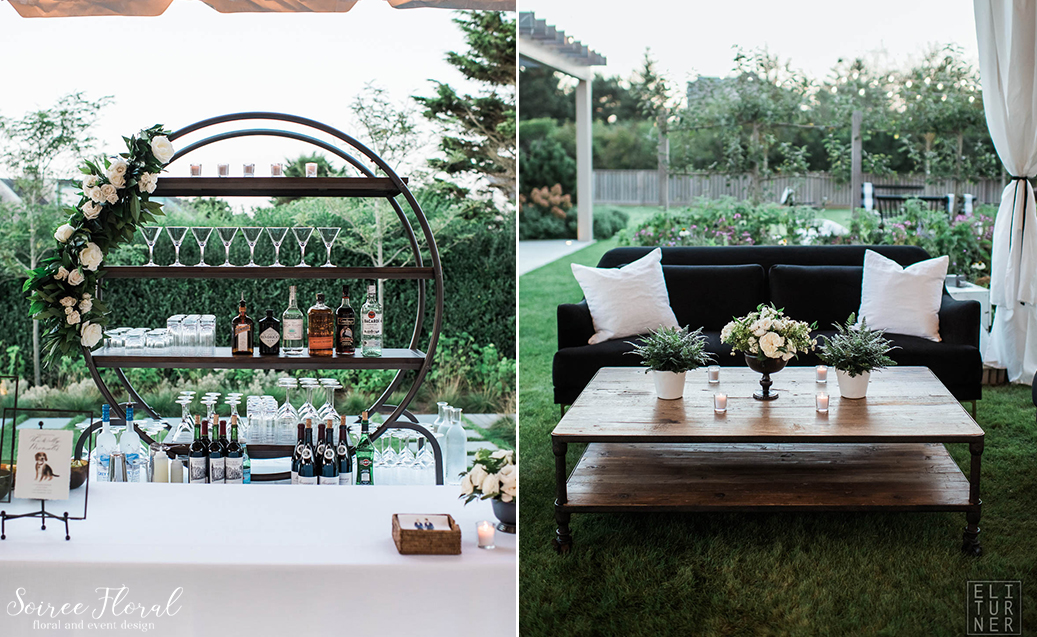 Green White and Black Wedding – Nantucket – Soiree Floral2
