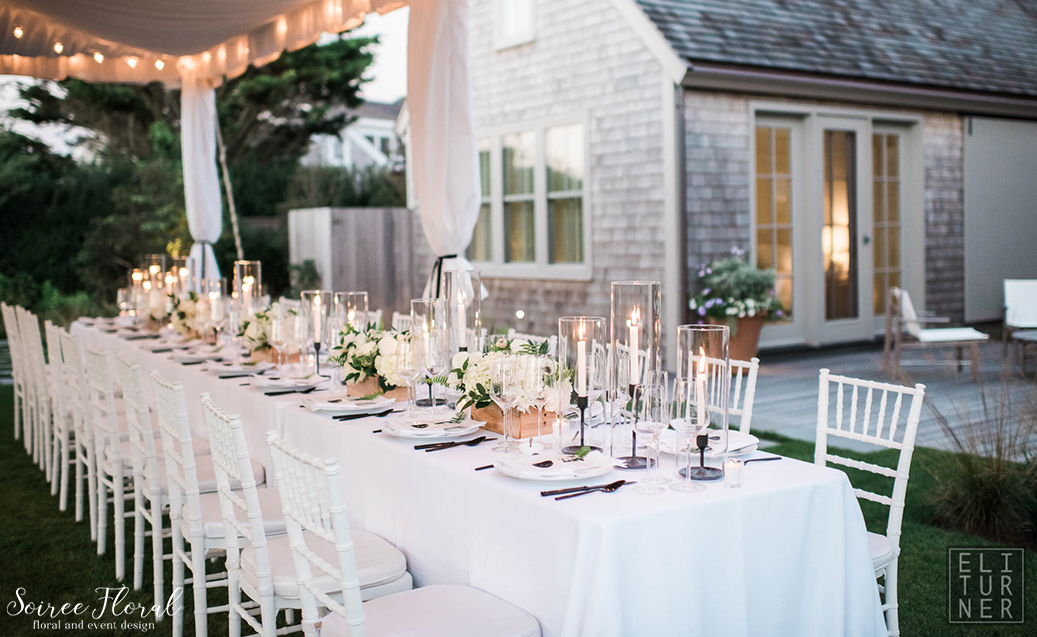 Green White and Black Wedding – Nantucket – Soiree Floral3