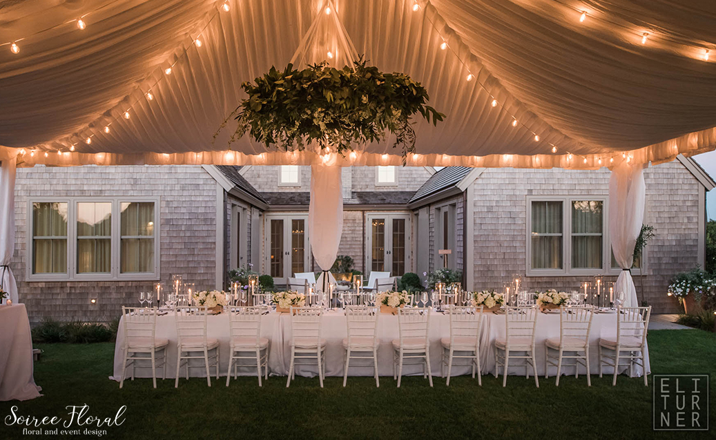 Green White and Black Wedding – Nantucket – Soiree Floral4