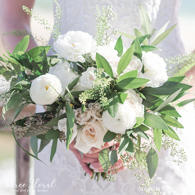 White and Green Boho Bouquet