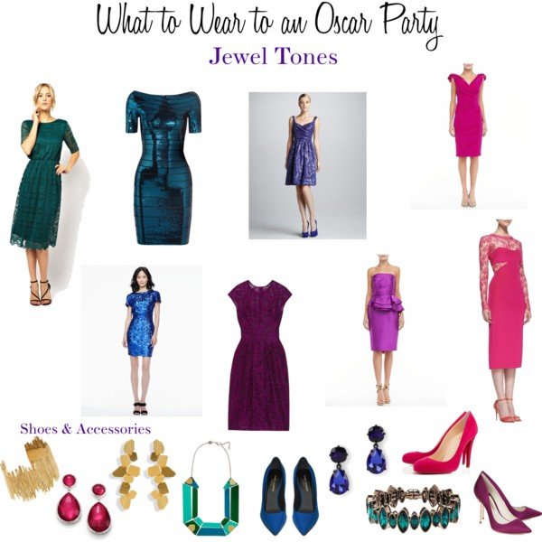 What to Wear to an Oscar Party - Jewel Tones