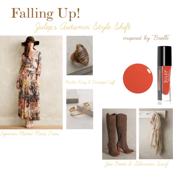 Falling Up! - Julep's Autumn Style Shift with Anthropologie & Soirée Floral - Part Two