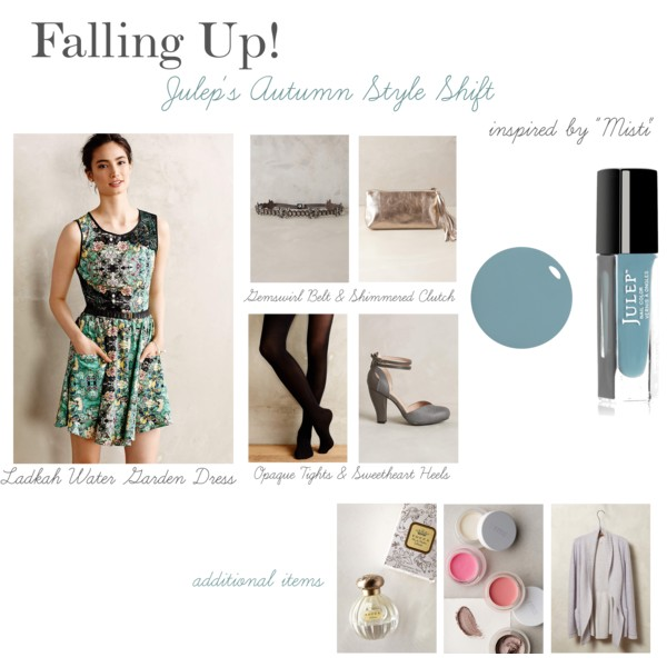 Falling Up - Julep's Autumn Style Shift with Anthropologie & Soirée Floral