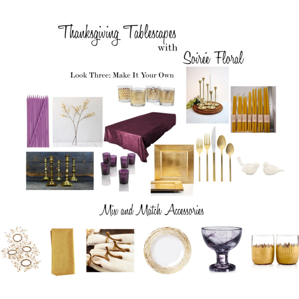 Thanksgiving Tablescapes with Soirée Floral - Look Three