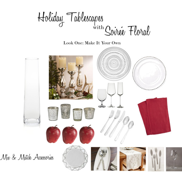 Holiday Tablescapes with Soirée Floral - Look One