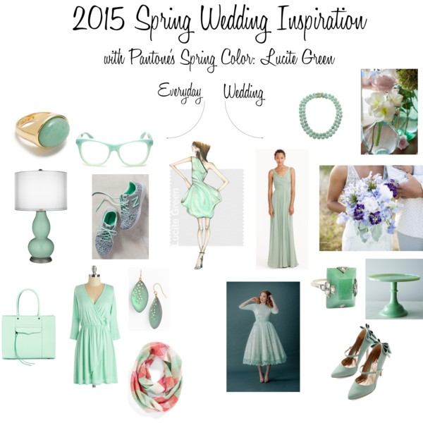 2015 Spring Wedding Inspiration with Pantone's Spring Color - Lucite Green