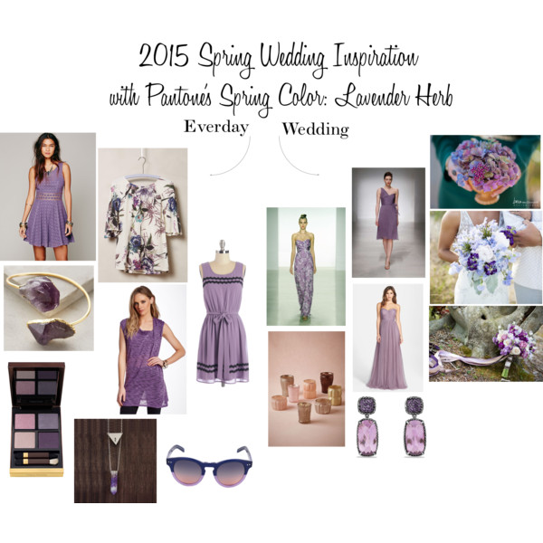 2015 Spring Wedding Inspiration with Pantone's Spring Color - Lavender Herb