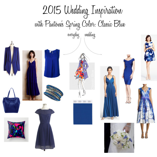 2015 Wedding Inspiration with Pantone's Spring Color: Classic Blue