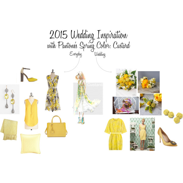 2015 Wedding Inspiration with Pantone's Spring Color: Custard