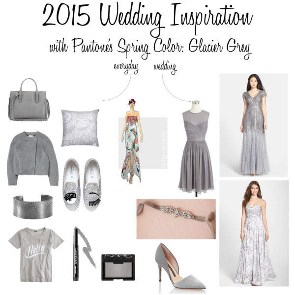 2015 Wedding Inspiration with Pantone's Spring Color: Glacier Grey
