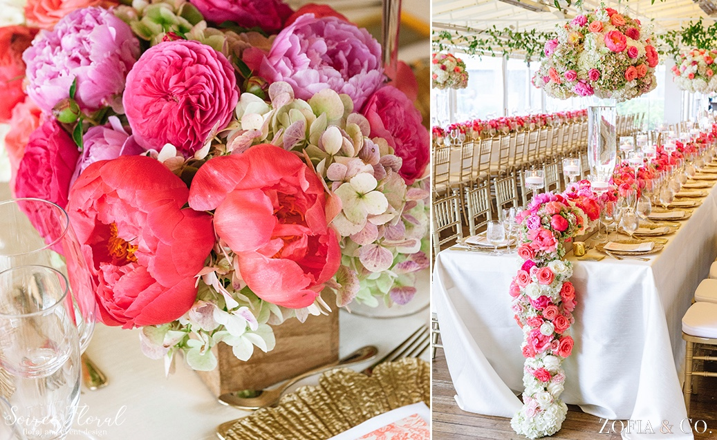 Coral Pink and White Nantucket Wedding Soiree Floral Zofia Photo 10