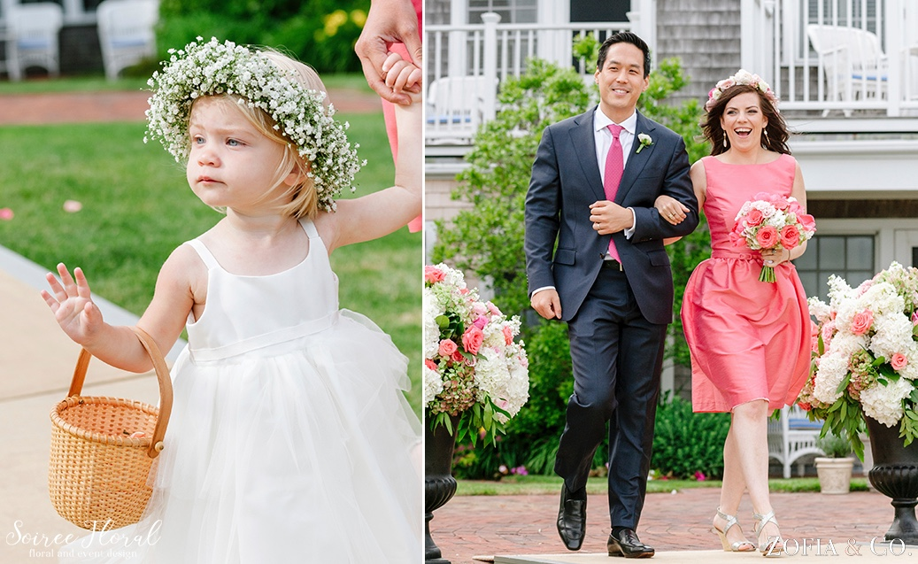 Coral Pink and White Nantucket Wedding Soiree Floral Zofia Photo 2
