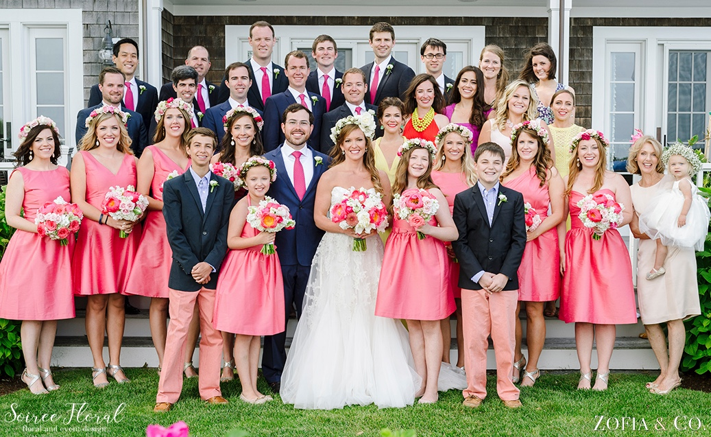 Coral Pink and White Nantucket Wedding Soiree Floral Zofia Photo 7