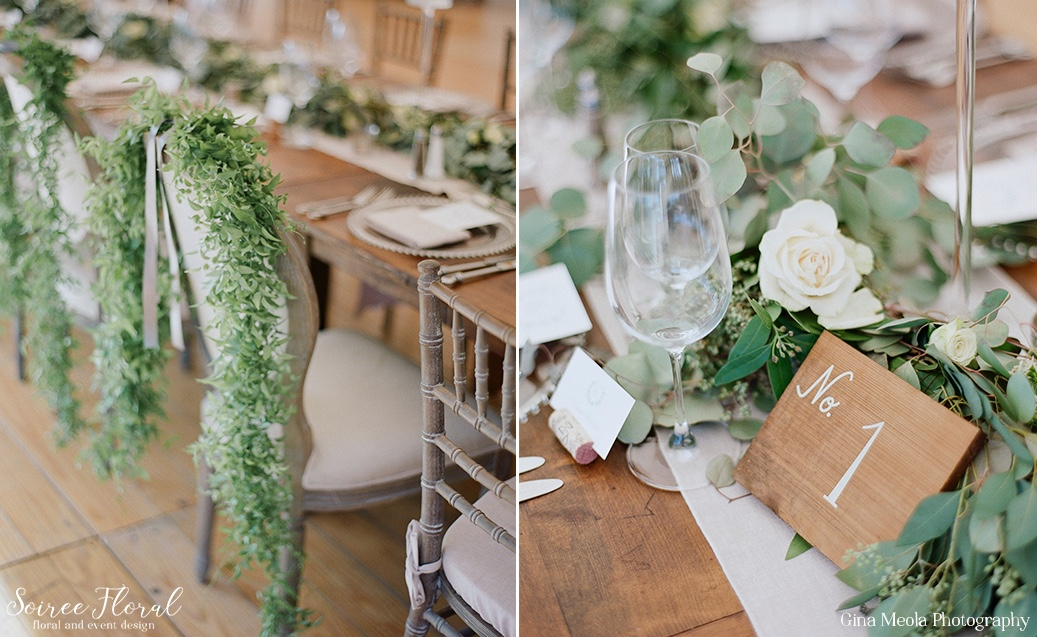 Head Table Details with New England Country Rentals and Soiree Floral Nantucket 11