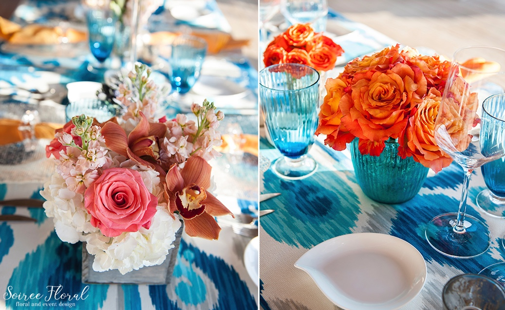 Blue_Orange_Coral_Nantucket_Party_Soiree Floral 2