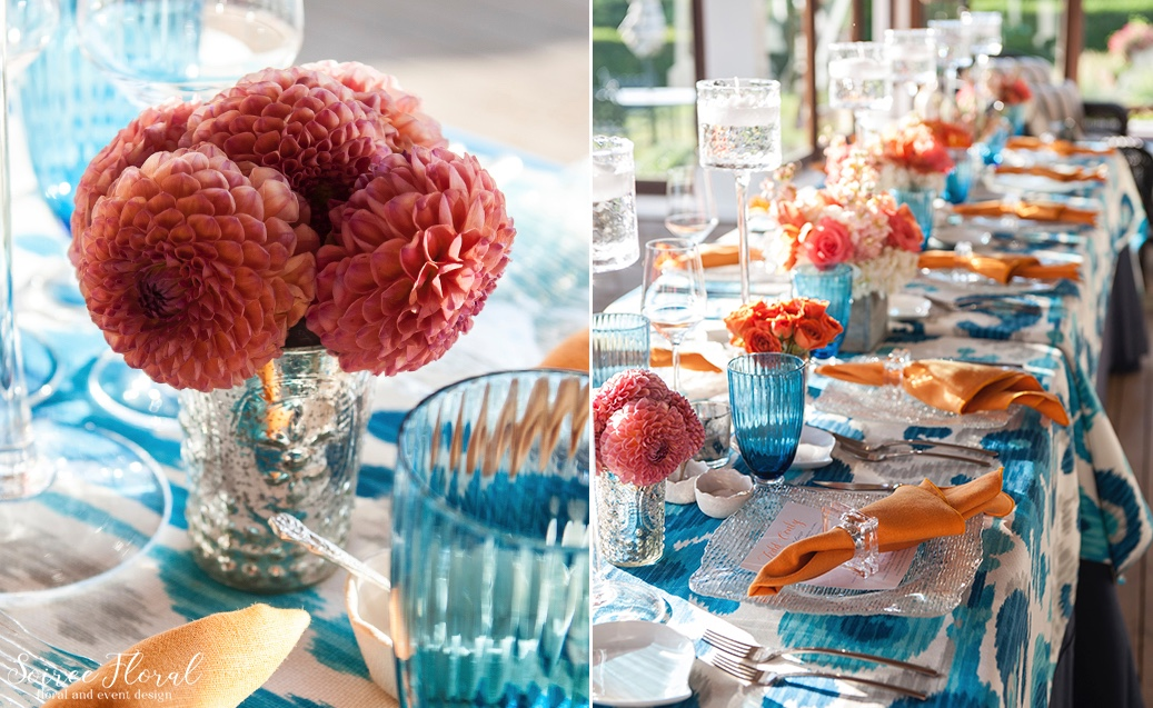 Blue_Orange_Coral_Nantucket_Party_Soiree Floral 4