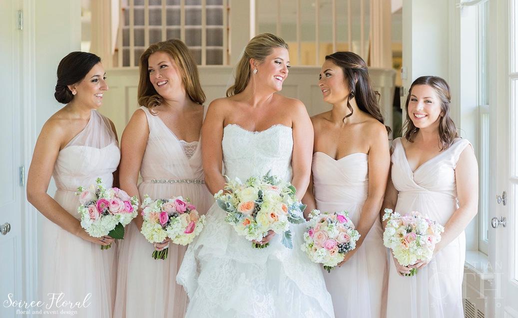 Blush-Bridesmaids-Peach-Blush-White-Nantucket-Wedding 2