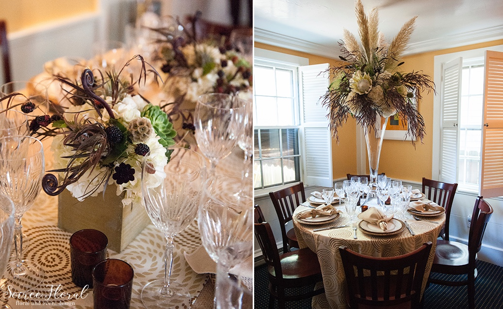Masculine and Rustic Centerpieces Nantucket LeLanguedoc Soiree Floral 1