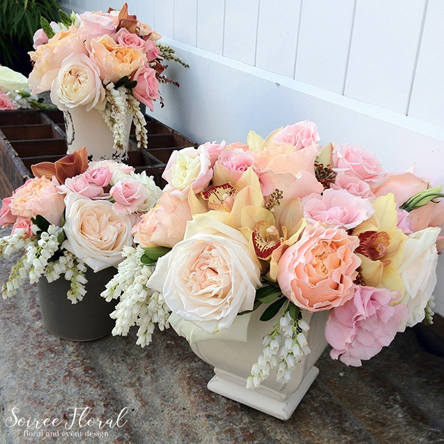 Nantucket Flower Delivery – Peach and Cream – Soiree Floral