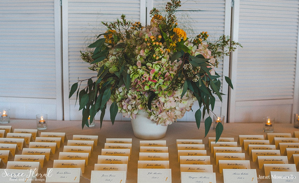 Virbrant Fall Wedding on Nantucket Soiree Floral 2