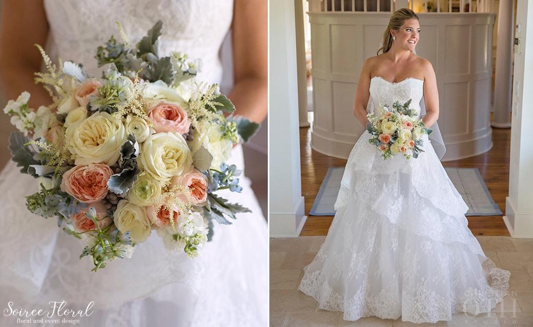 White-Peach-Blue-Bouquet-Nantucket-Wedding-Christian-Oth 1