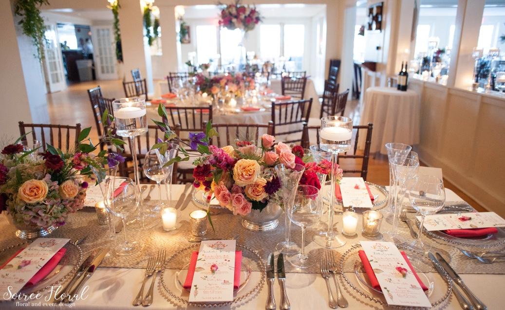Burgundy Peach Green Silver Nantucket Wedding – Soiree Floral