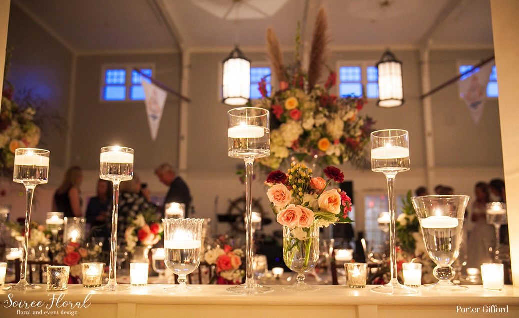 Candlescape Nantucket Yacht Club Wedding – Soiree Floral