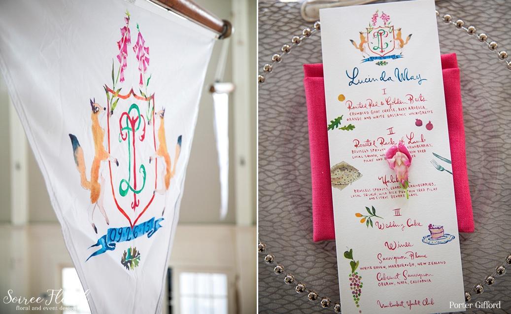 Custom Wedding Crest and Pennant Flags – Nantucket Wedding