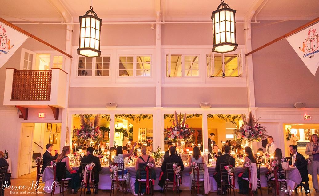 Nantucket Yacht Club Wedding – Head Table – Soiree Floral