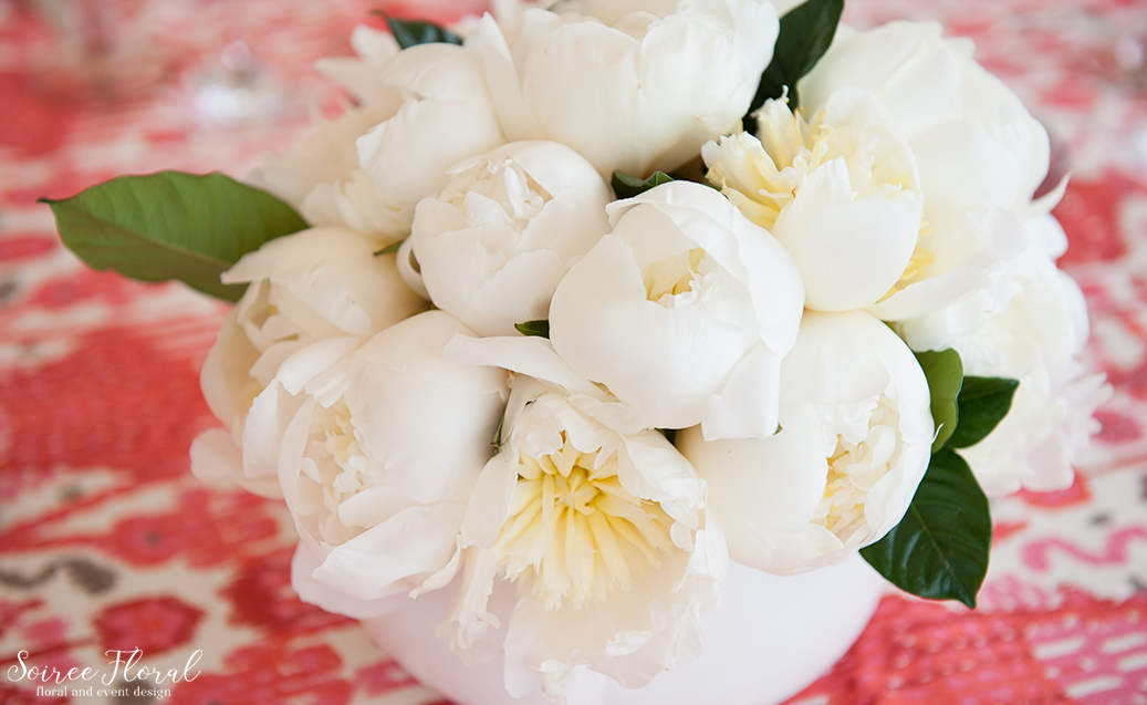 Nantucket Cocktail Party – White Peony Centerpiece
