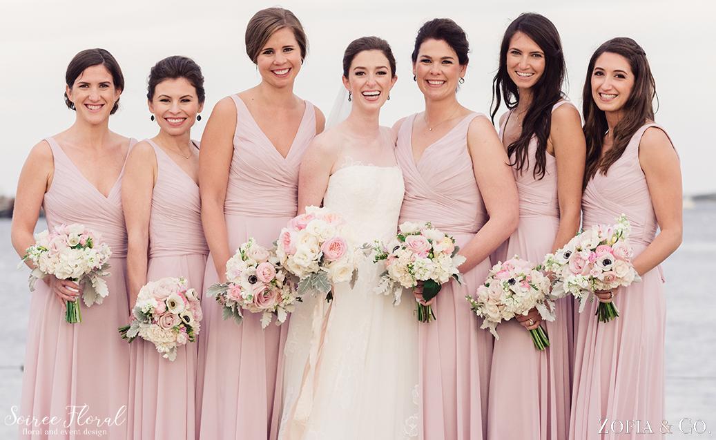 Blush Pink Bridesmaids – Nantucket Wedding