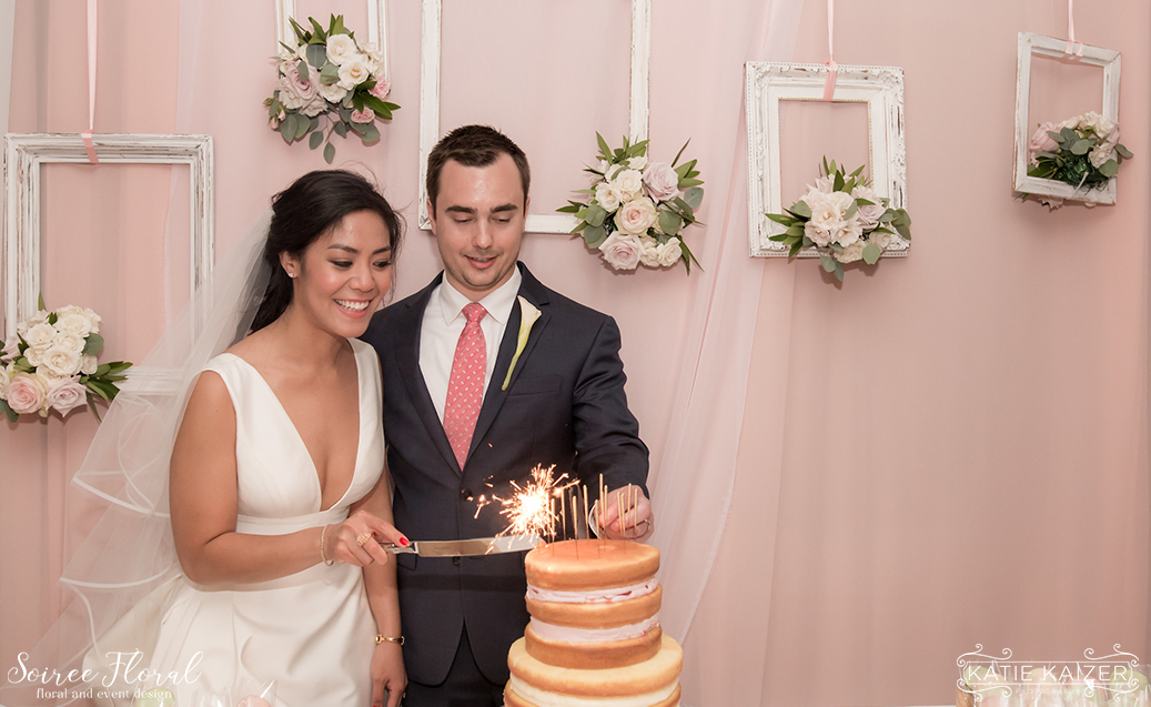Cake Backdrop – Nantucket Wedding