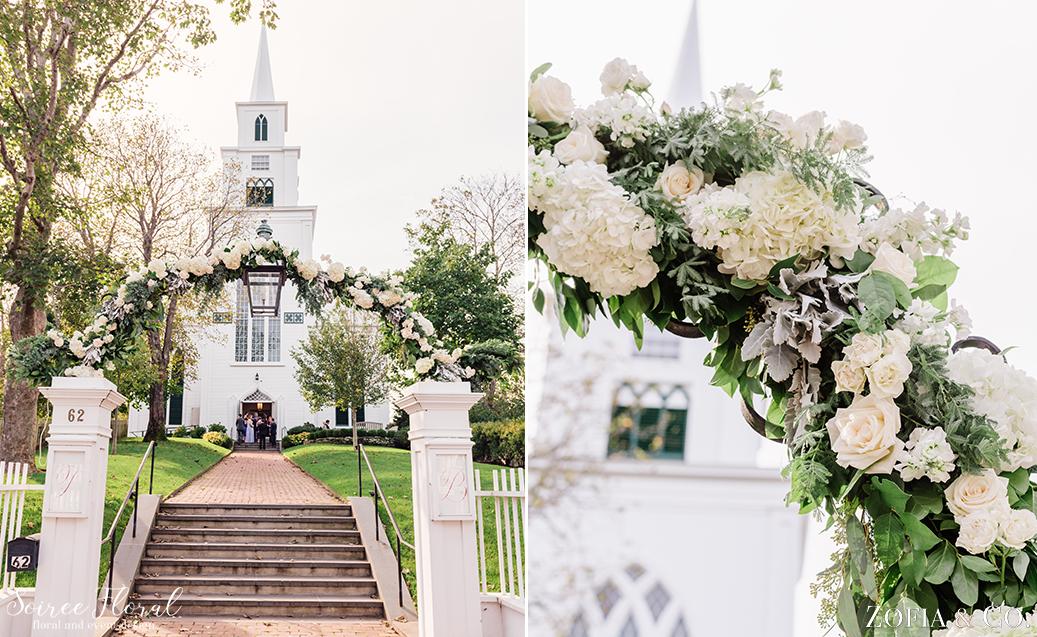 Nantucket Church Wedding Arch