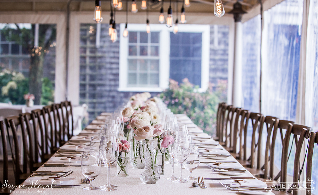 Nantucket Wedding – Long Table Centerpiece – Blush Wedding
