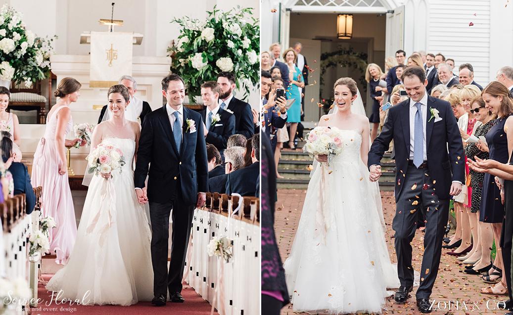 Nantucket Wedding Petal Toss