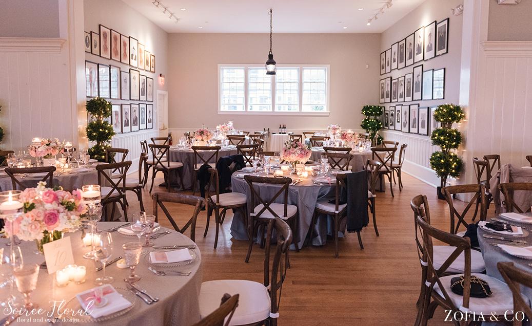 Nantucket Yacht Club – White Blush and Grey Nantucket Wedding