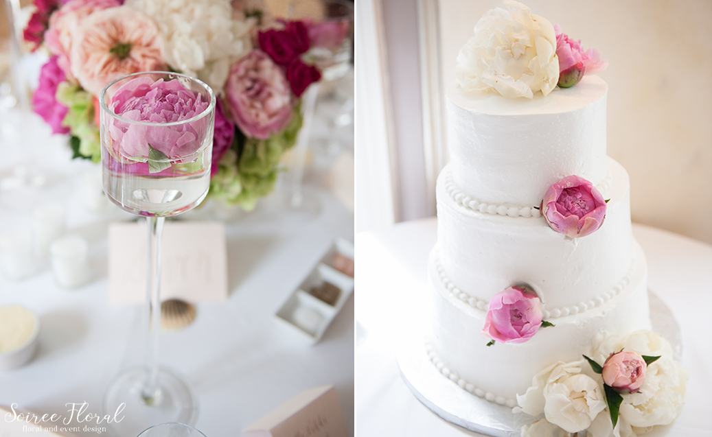Pink Peony Wedding Cake – Nantucket