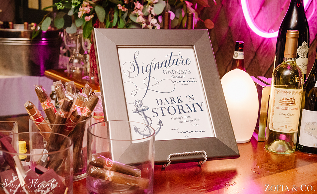 Signature Cocktail Sign – Soiree Floral
