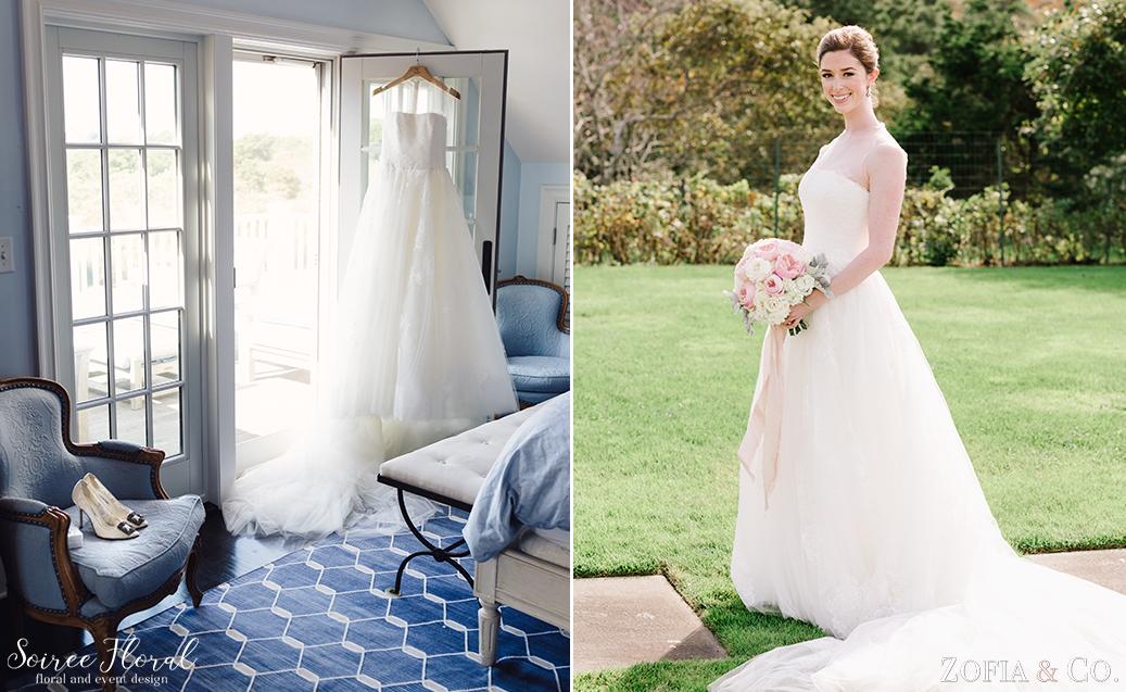 White and Blush Nantucket Wedding Bouquet