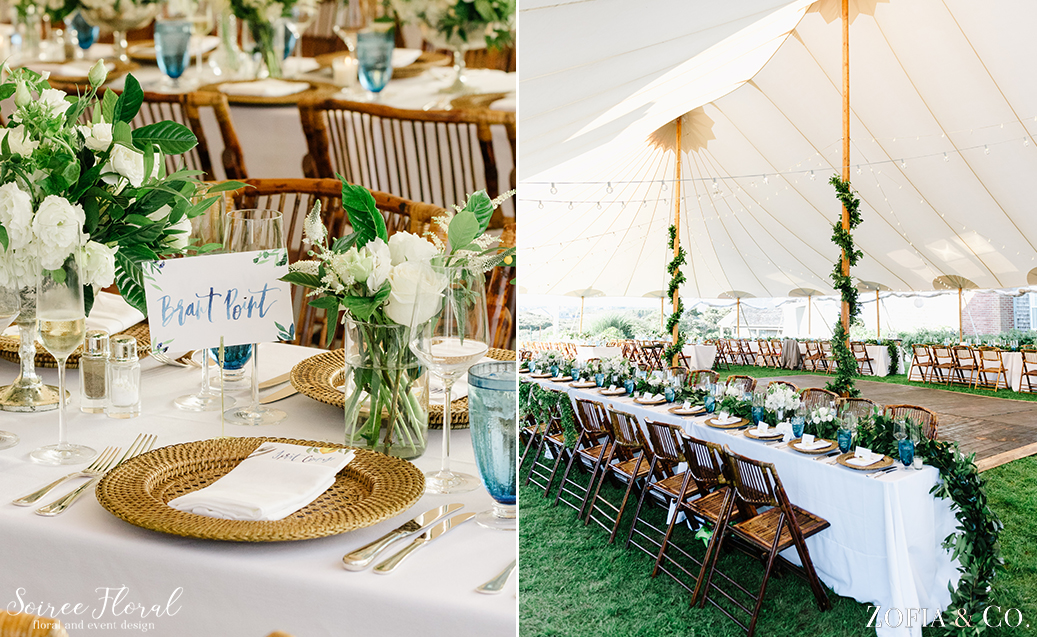 Whales Watch Wedding – Nantucket – Green and White