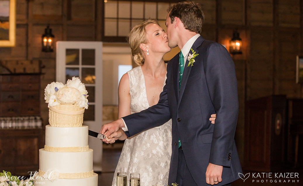Cake Cutting – Nantucket Wedding