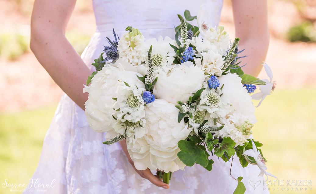 Peony Hyacinth Muscari Bouquet – Soiree Floral Nantucket