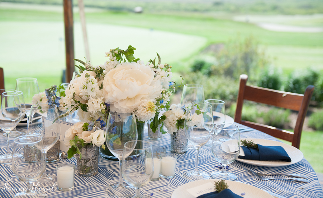 Peony Wedding Centerpiece Nantucket