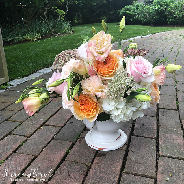 Peach and White Summer Arrangement