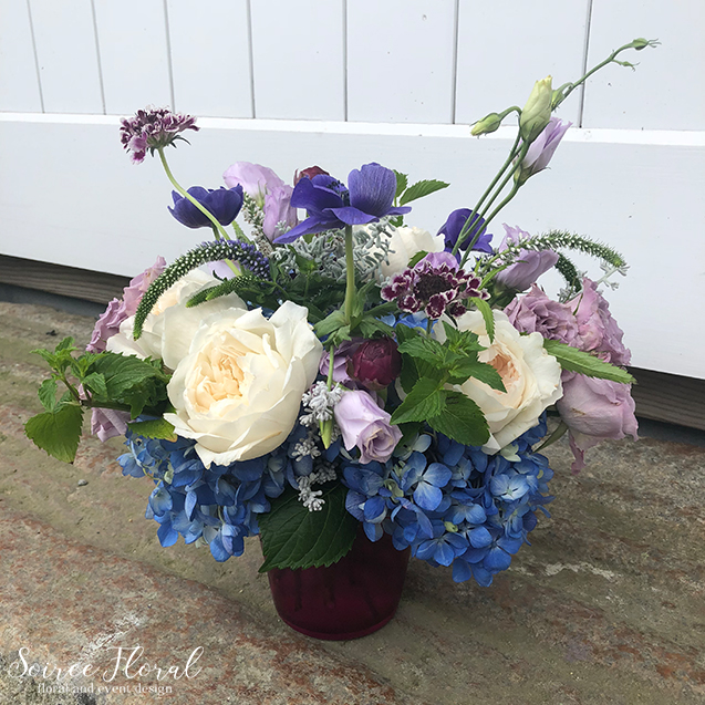 Blue Purple White Birthday Flowers – Nantucket Florist