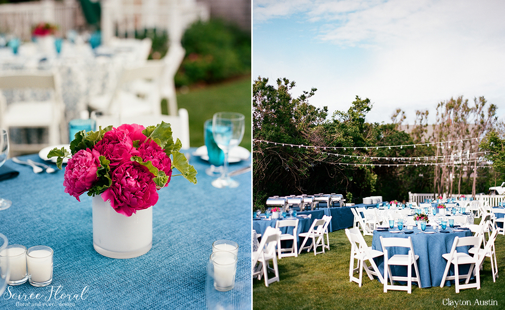 Peony Centerpiece – Rehearsal Dinner – Wauwinet Nantucket – Soiree Floral1