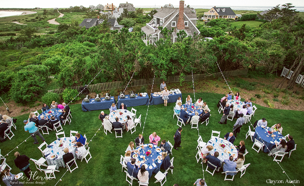 Peony Centerpiece – Rehearsal Dinner – Wauwinet Nantucket – Soiree Floral3