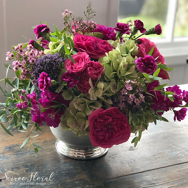 Pink and Green Nantucket Flower Delivery – Nantucket Florist
