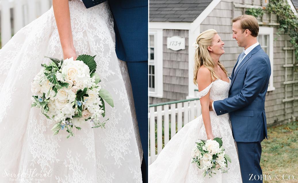 White Bridal Bouquet – Nantucket Wedding – Soiree Floral – Zofia Photo